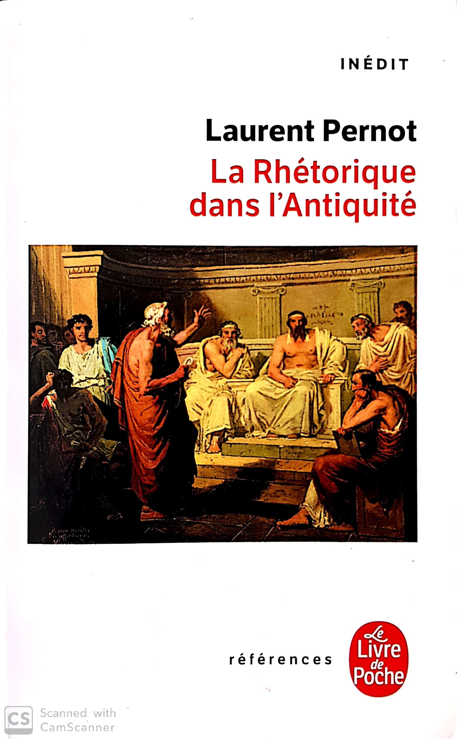 laurent pernot la rhétorique dans l'Antiquité