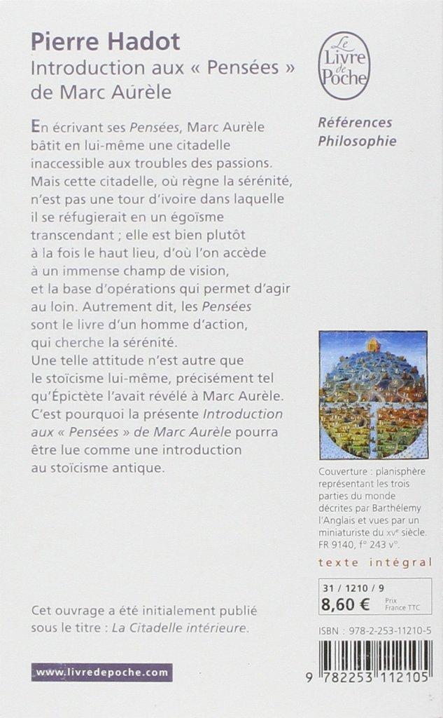 Dos de couverture livre Pierre Hadot
